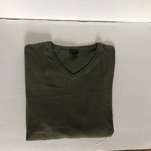 J.CREW Dark Green Long Sleeve V Neck Sweater